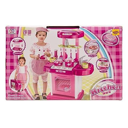 Kitchen Set Kids Luxury Battery Operated Kitchen Super Toy Set Multi Color