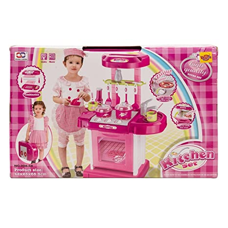 Buy Kitchen Set Kids Luxury Battery Operated Kitchen Super Toy Set