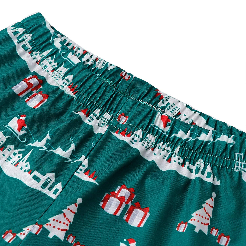 RAISERVEN Famille Assortiment de Nuit de Noël Pyjama à Manches Longues Pyjamas vêtements de Nuit Top Pantalons Ensembles pour Maman