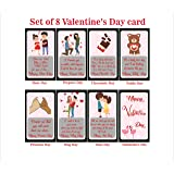 SYGA Set of 8 Exciting Lives Love Story Romantic Valentine Cards - Valentine Week Gift for Your Loved one