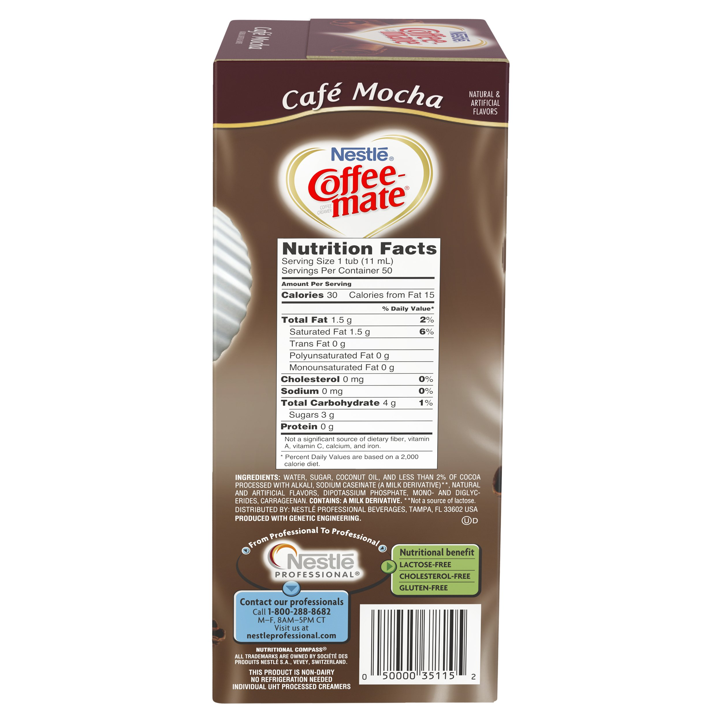 NESTLE COFFEE-MATE Coffee Creamer, Cafe Mocha, liquid creamer singles, 50 Count (Pack of 4) by Nestle Coffee Mate (Image #3)