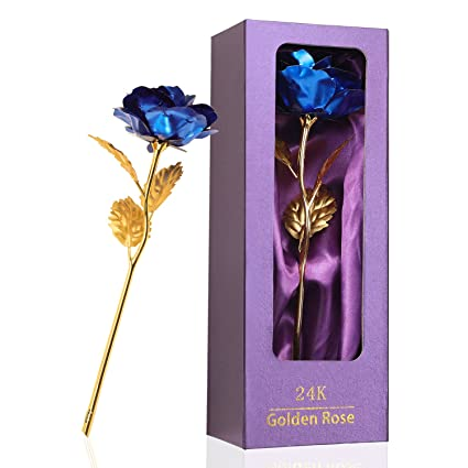 Childom 24K Blue Female Rose Gifts Forever Flowers Popular For Women Girlfriends