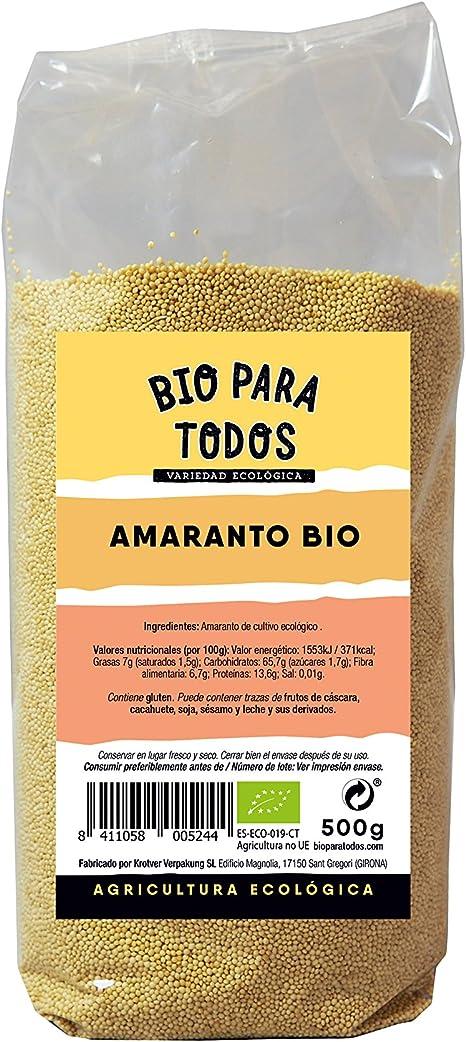Bio para todos Amaranto - 500 gr: Amazon.es: Alimentación y ...