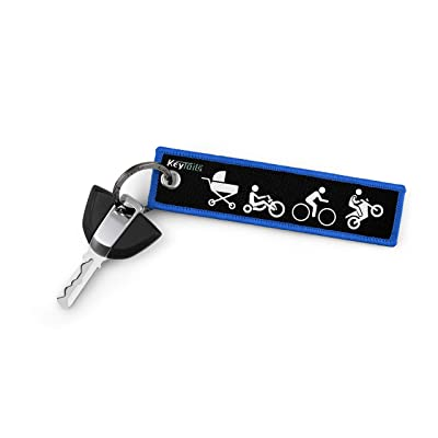 KEYTAILS Keychains, Premium Quality Key Tag for Motorcycle, Scooter, Dirt Bike [Moto Evolution]: Automotive