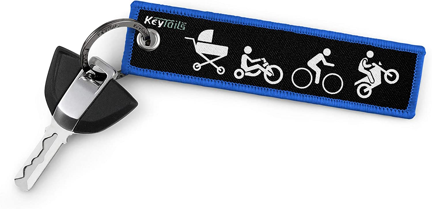 Scooter Premium Quality Key Tag for Motorcycle Keychains by KeyTails Dirt Bike Moto Evolution