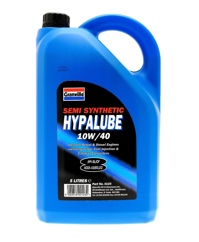 Granville 0123 5L Hypalube - Aceite semisintético de motores diésel y gasolina (10W-40, 5 l): Amazon.es: Coche y moto