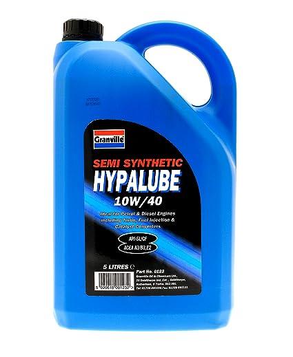 Granville 0123 5L Hypalube - Aceite semisintético de motores diésel y gasolina (10W-40
