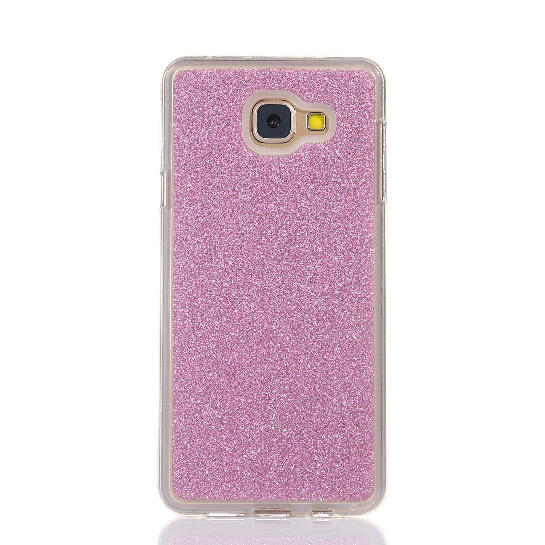 Für Samsung Galaxy J2 Prime Ultra Dünn Silikon Tasche Für Samsung Galaxy J2 Prime Bling Glitter Schutz Hülle Funyye Luxus [Rosa Farbe] Sparkles Glänzend