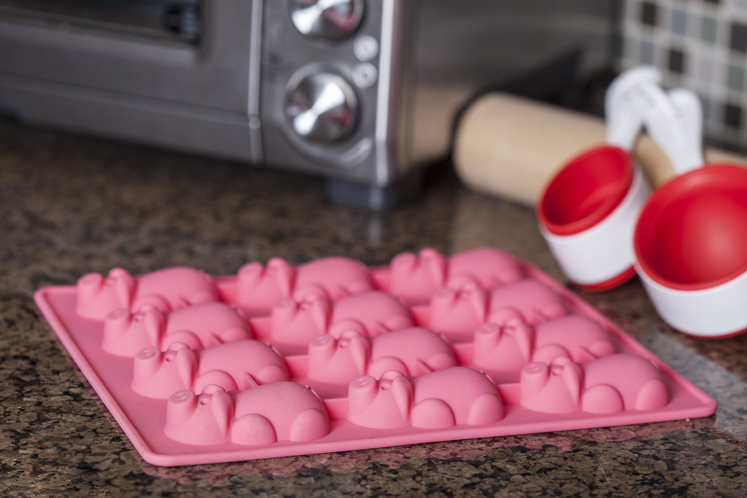 Mobi 12 Little Pigs in a Blanket Silicone Baking Mold, Pink by MOBI (Image #6)