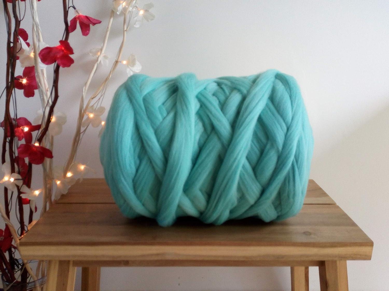 1 kg Black* 100/% Merino Wool for Felting Giant Yarn Extreme Arm Knitting 100 g