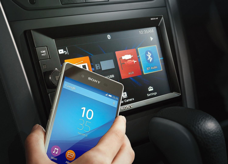 Noir, 50 W, TFT, 15,8 cm 6.2 , 800 x 480 Pixels, 17:9 R/écepteurs multim/édias de Voiture Sony XAV-V631BT Noir 50 W Bluetooth