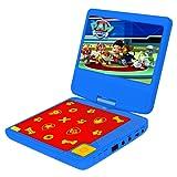 Lexibook Lecteur DVD portable Pat'Patrouille, avec port USB, Bleu/Rouge, DVDP6PA