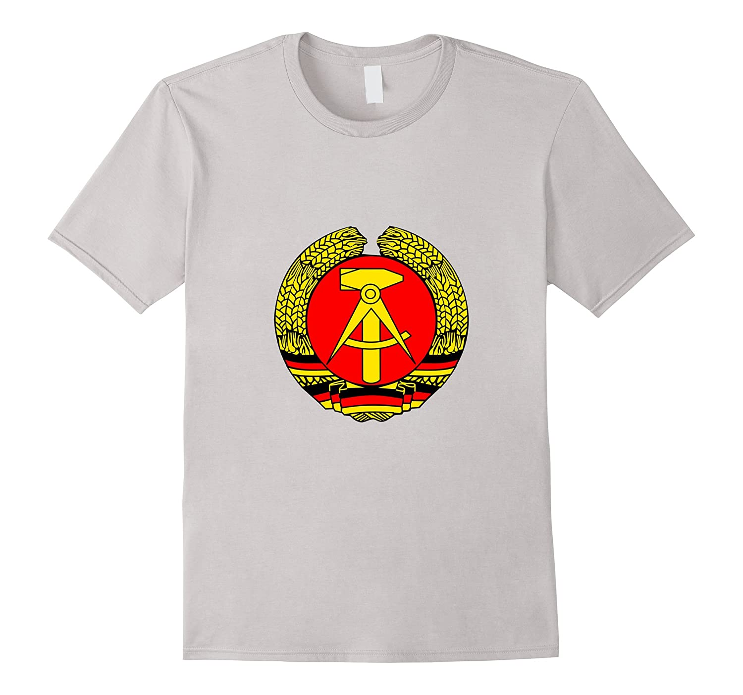 d6ac1f9a8fb DDR East Germany old Emblem symbol retro funny humor T-shirt-TD – Teedep
