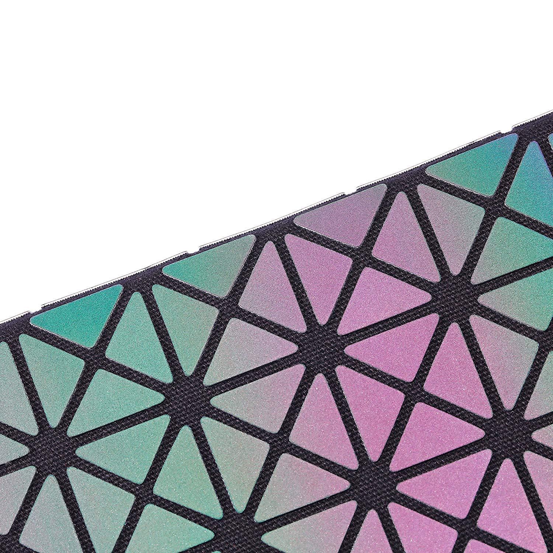 Billetera Geométrico Cartera Moda Enrejado Luminoso Cremallera Larga Sección Billetera para Mujer NO.1: Amazon.es: Equipaje