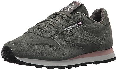 size 40 b79c0 ec732 Reebok Women s CL LTHR W W Sneaker, Ironstone Pink Skull Grey, ...