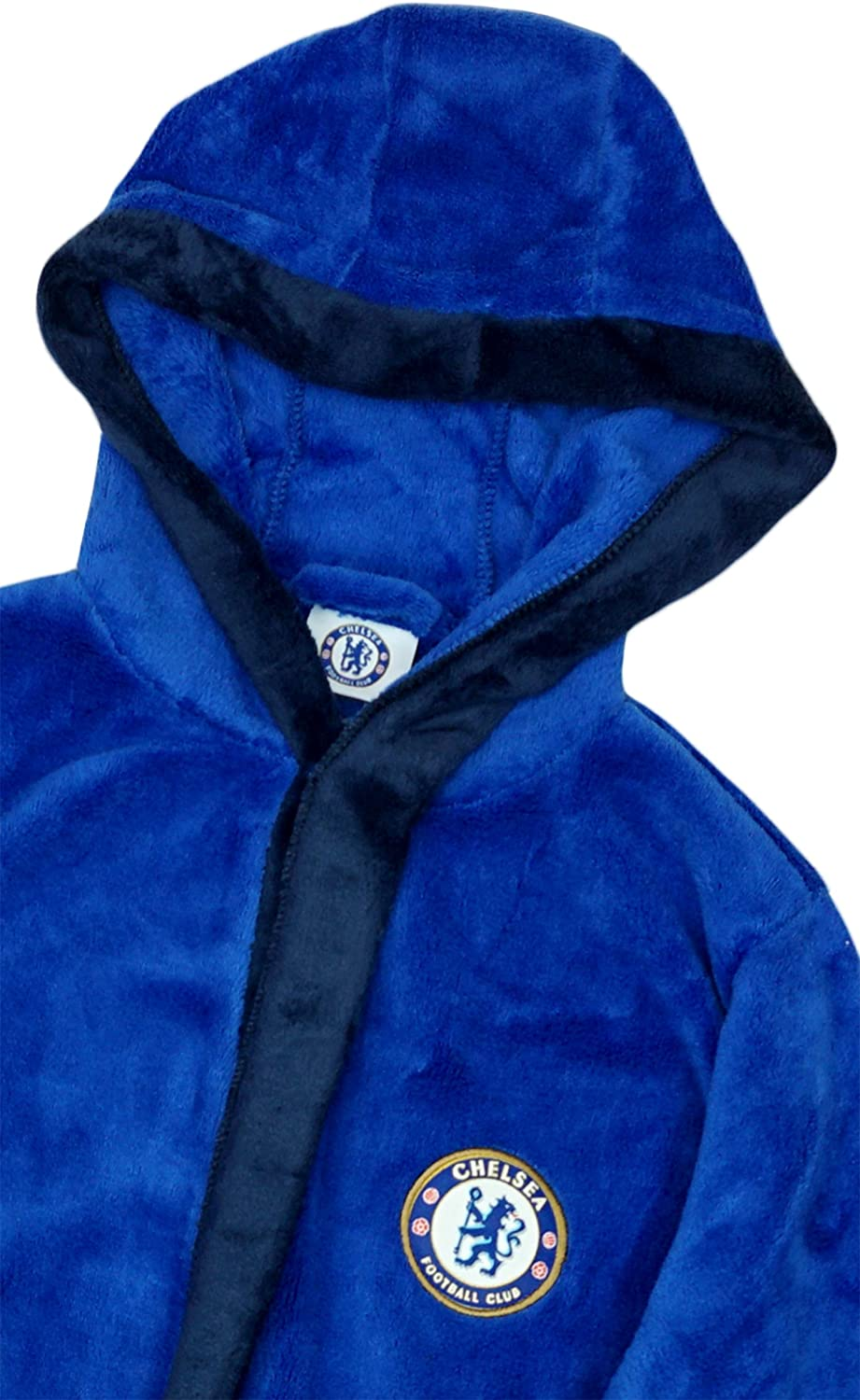 Get Wivvit Boys Chelsea CFC Football Fleece Hooded Dressing Gown Bathrobe Sizes from 3 to 6 Years