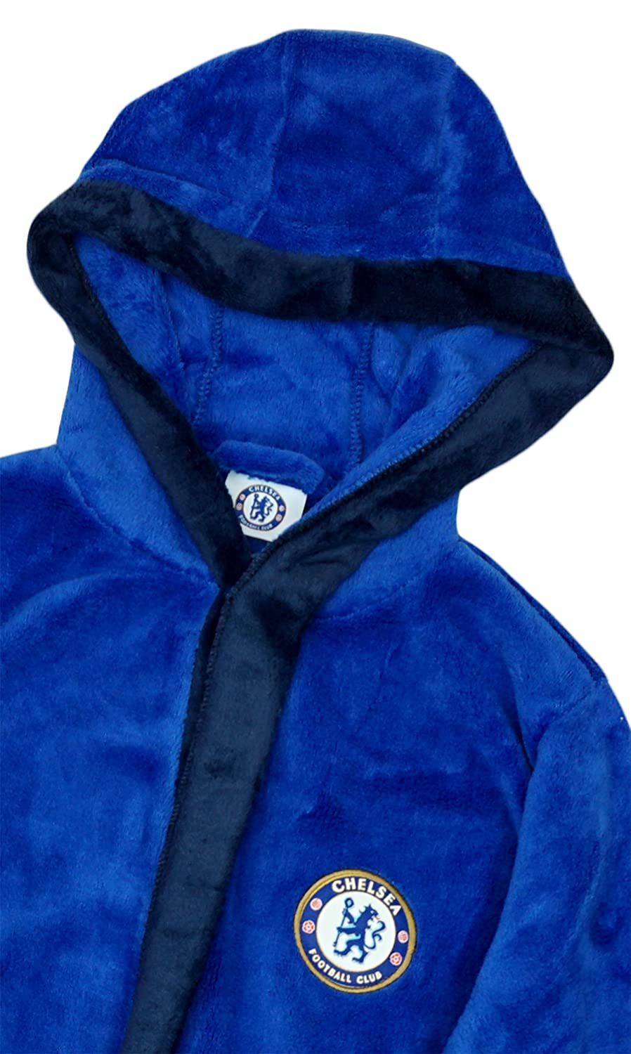 Chelsea FC Childrens//Boys Official Football Crest Dressing Gown//Bath Robe