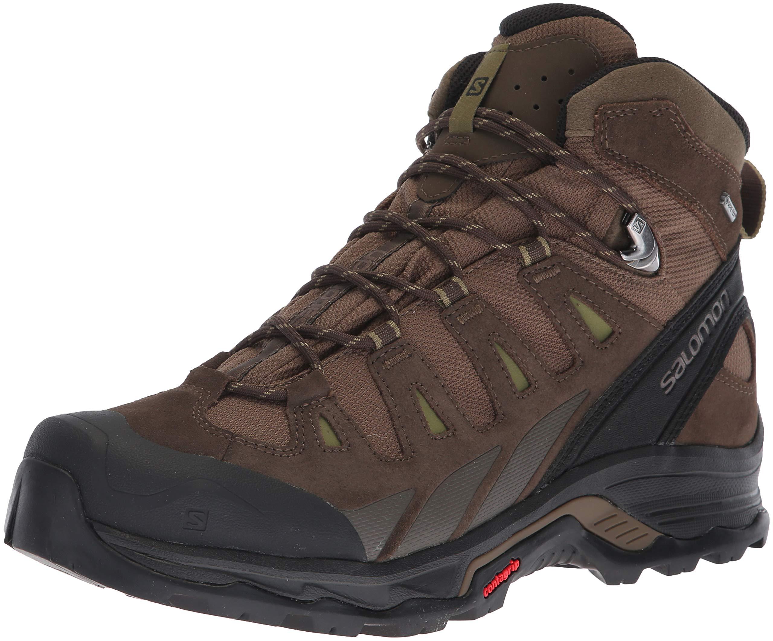 Salomon Men's Quest Prime GTX Backpacking Boot, Canteen/Wren/Martini Olive, 12 M US