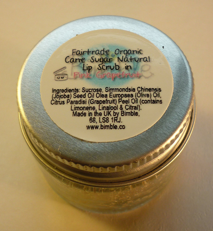 Bimble Organic Raw Cane Sugar Natural Lip Scrub 25g - Pink Grapefruit Flavour BeautyLand LSPG