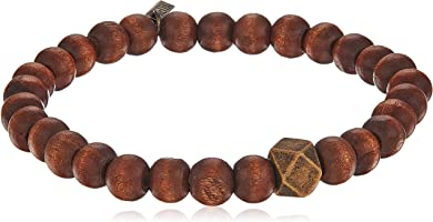 Ettika Men Stretch Bracelet Large Brass Cornerless Bead
