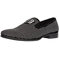 Deals on Stacy Adams Mens Swagger Studded Fabric Slip-On Shoes