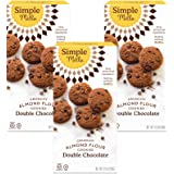 Simple Mills Almond Flour Double Chocolate Chip Cookies, Gluten Free and Delicious Crunchy Cookies, Organic Coconut Oil, Good