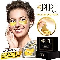 LA PURE 24K Gold Eye Treatment Masks - Under Eye Patches, Dark Circles Under Eye...