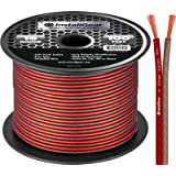 InstallGear 16 Gauge AWG 100ft Speaker Wire True Spec and Soft Touch Cable - Red/Black