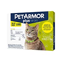 PETARMOR Plus Flea & Tick Prevention for Cats with Fipronil, Waterproof, Long-Lasting...