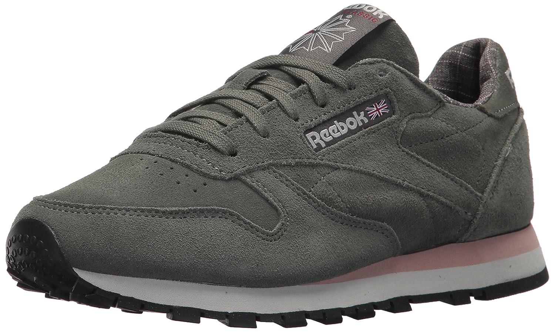 Reebok Women's Cl Lthr W&w Sneaker B074V2LPDM 10.5 B(M) US|Ironstone/Pink/Skull Grey