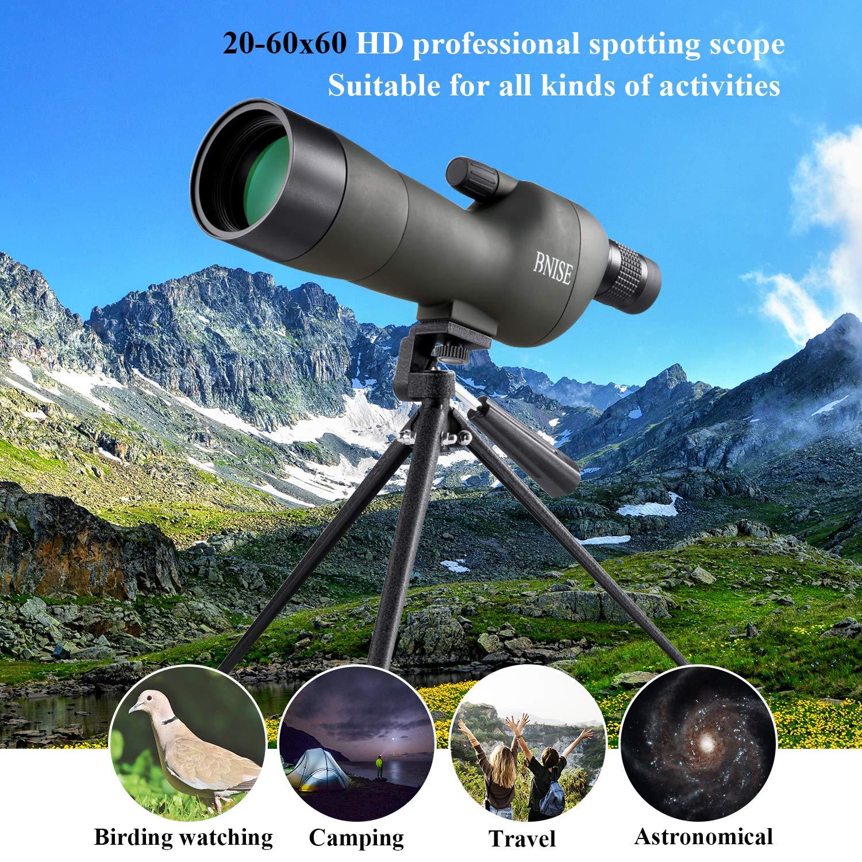 Appareil Photo et Adaptateur t/él/éphonique avec tr/épied Optique FMC pour la Chasse et Astronomie BNISE/® 20-60x60 Longue-Vue /à Zoom