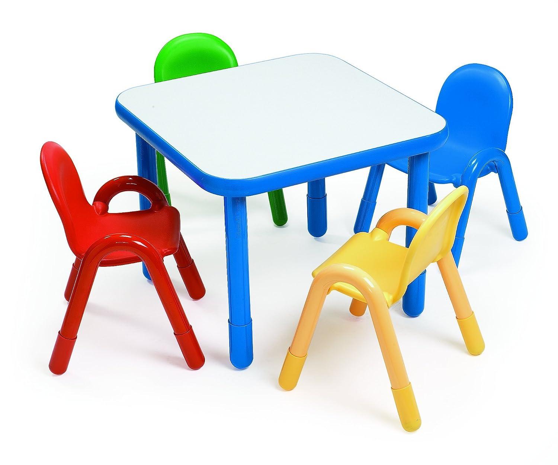 Amazoncom Angeles Preschool Table Chair Set ROYAL BLUE Toys Games