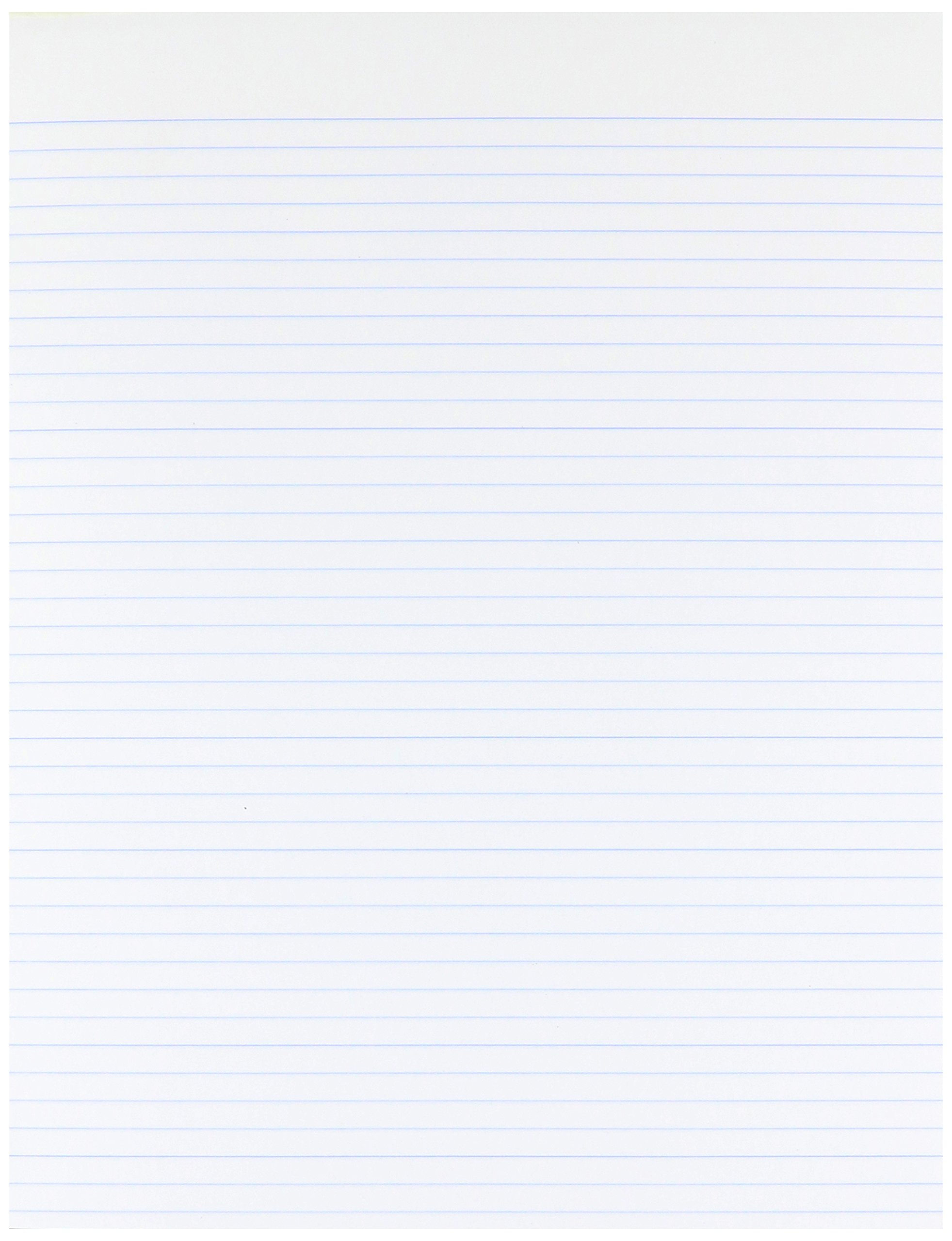 Ampad Evidence Glue Top 8-1/211 Pads, Narrow Rule, White, 50 Sheets, Dozen (21-118) by Ampad