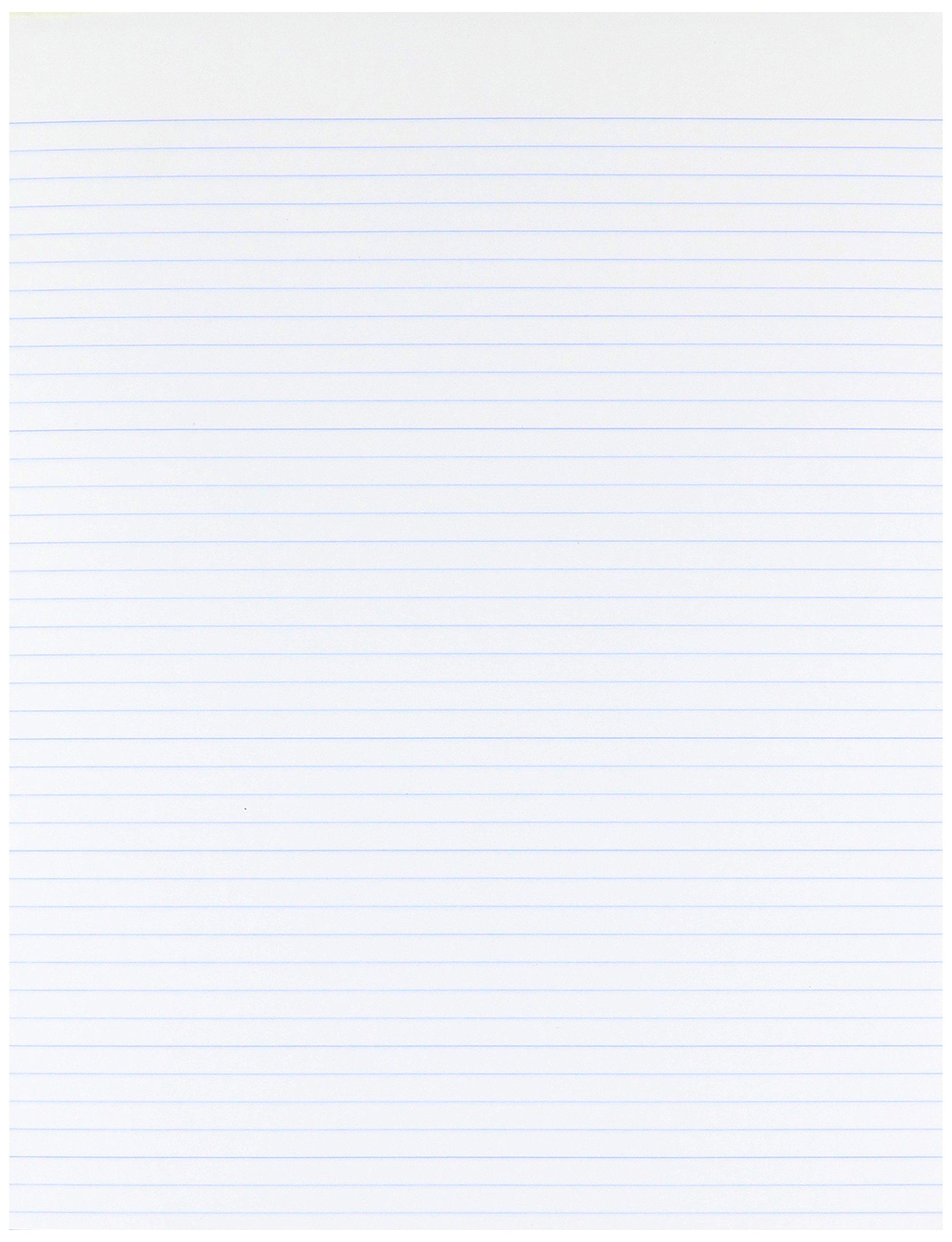 AMPAD Glue Top Pads, 8 1/2 x 11, White, 50 Sheets, Dozen (21118)