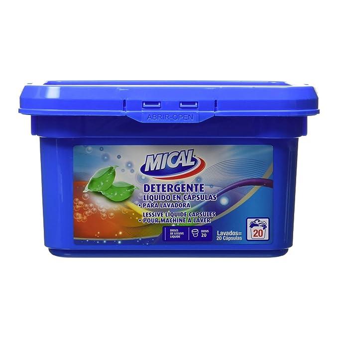 Mical - Detergente Líquido En Cápsulas Para Lavadora - 20 ...