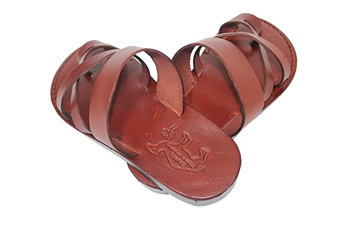 f8f8cdd49651 Sandales En Cuir Marron Pour Hommes Et Femmes Biblique Chaussures De Jésus  36-46 (35)  Amazon.fr  Chaussures et Sacs