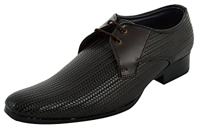 ae43474ebf15 Iconic Shoes Men s Brown Synthetic Formal Shoes (10 UK)  Buy Online ...