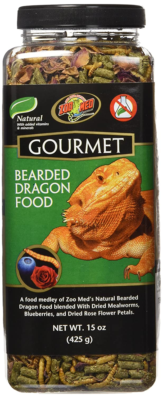 Zoo Med ZM104 5118 Gourmet Bearded Dragon Food, 15 oz