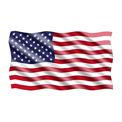 Rogue River Tactical American USA Flag Sticker Patriotic Waving United States Auto Car Decal Window Bumper US Military (3x5 Inch): Automotive