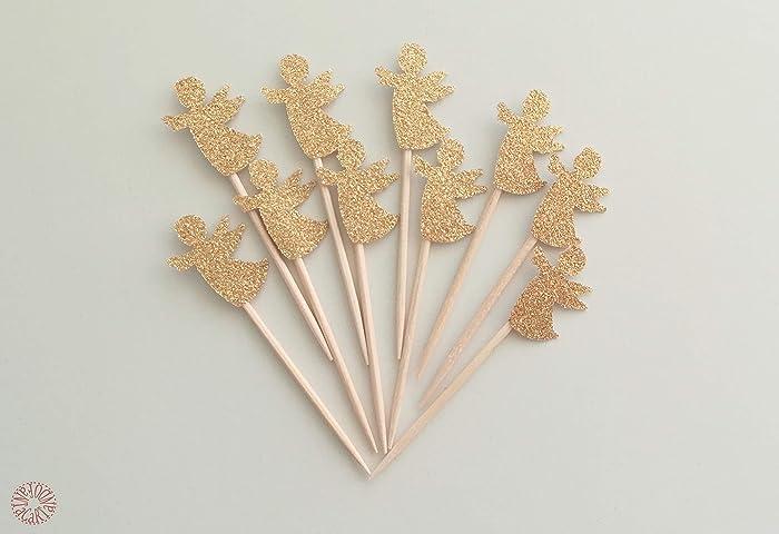 Decorare Un Tavolo Per Battesimo : Kit cupcake toppers stuzzicadenti angelo angioletto per