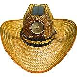 Kool Breeze Solar Hat Male Palm Leaf Cowboy Hat w.Band