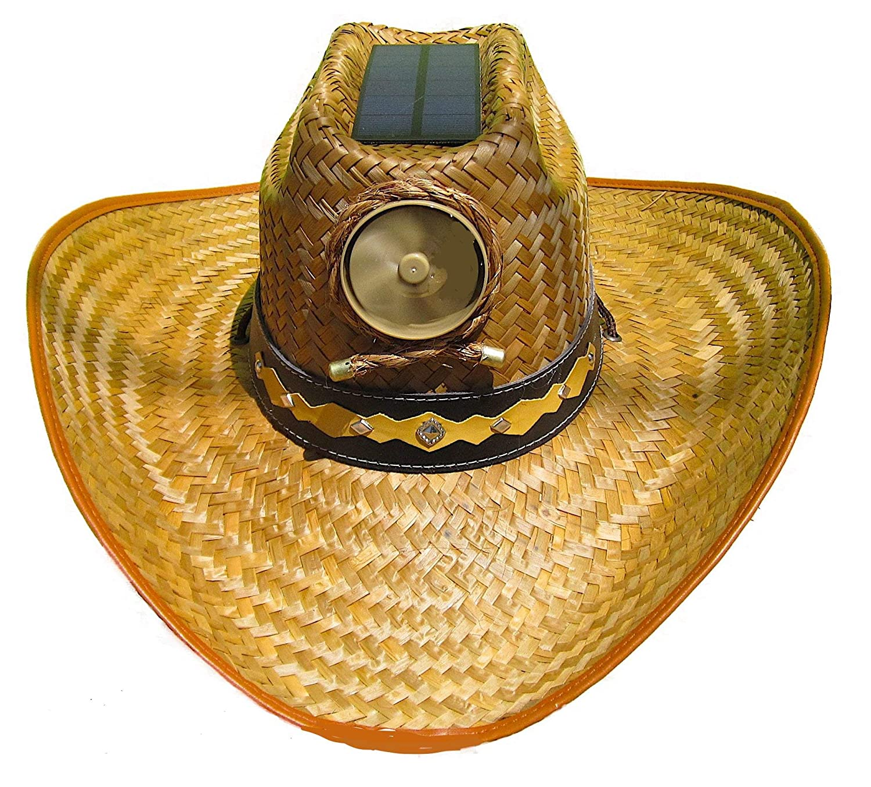 7f287c3f64014 Amazon.com  Cooling Sun Straw Solar Men s Palm Leaf Cowboy Hat w. Band  Meduim  Sports   Outdoors