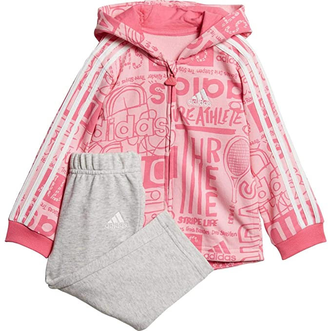 adidas Infants S Giacca Invernale Rosa, Ragazzo Bambina