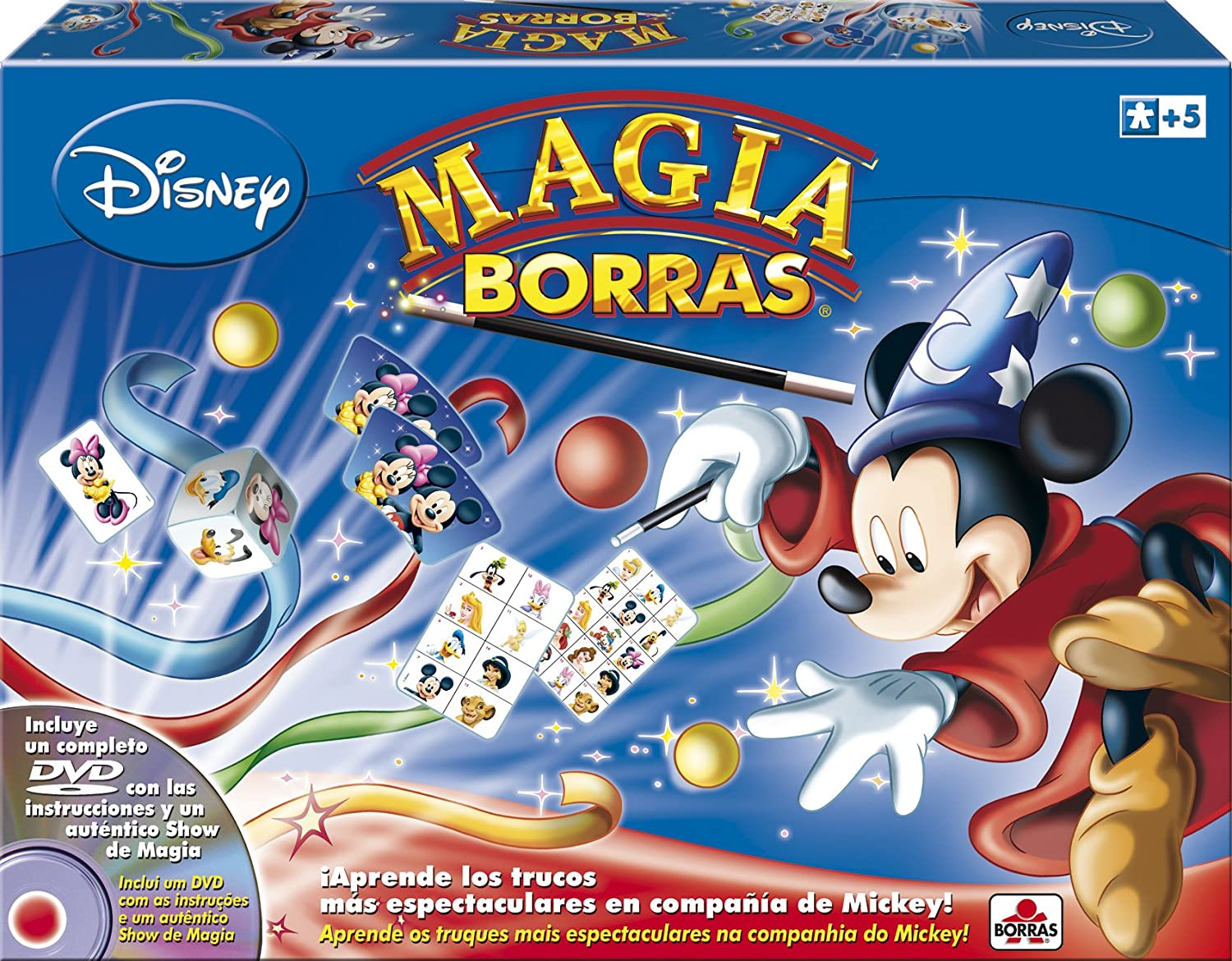Borras- Magia Edición Mickey Magic, 15 trucos, contiene DVD, a ...