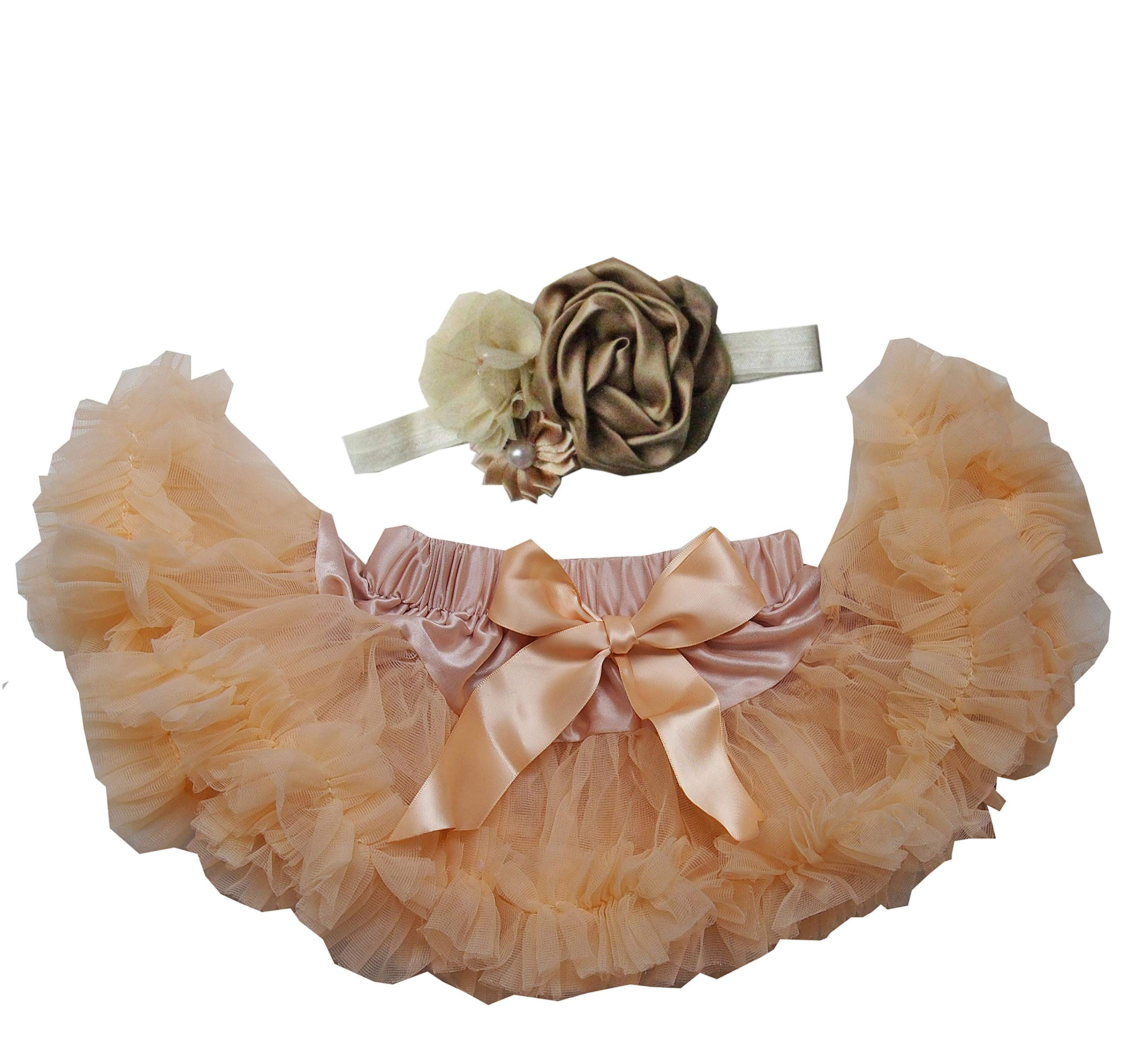 Kirei Sui Baby Sparkle Bow Pettiskirt Tutu Gold Blush Pink