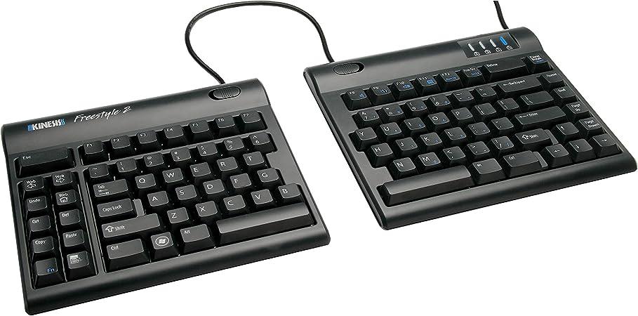 KINESIS Freestyle 2 - Teclado para Tablet, Negro - QWERTY Inglés