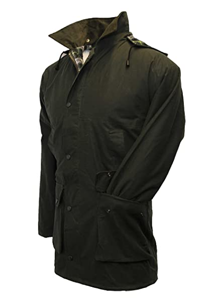 Amazon.com: Walker & Hawkes - Mens Unpadded Wax Jacket ...