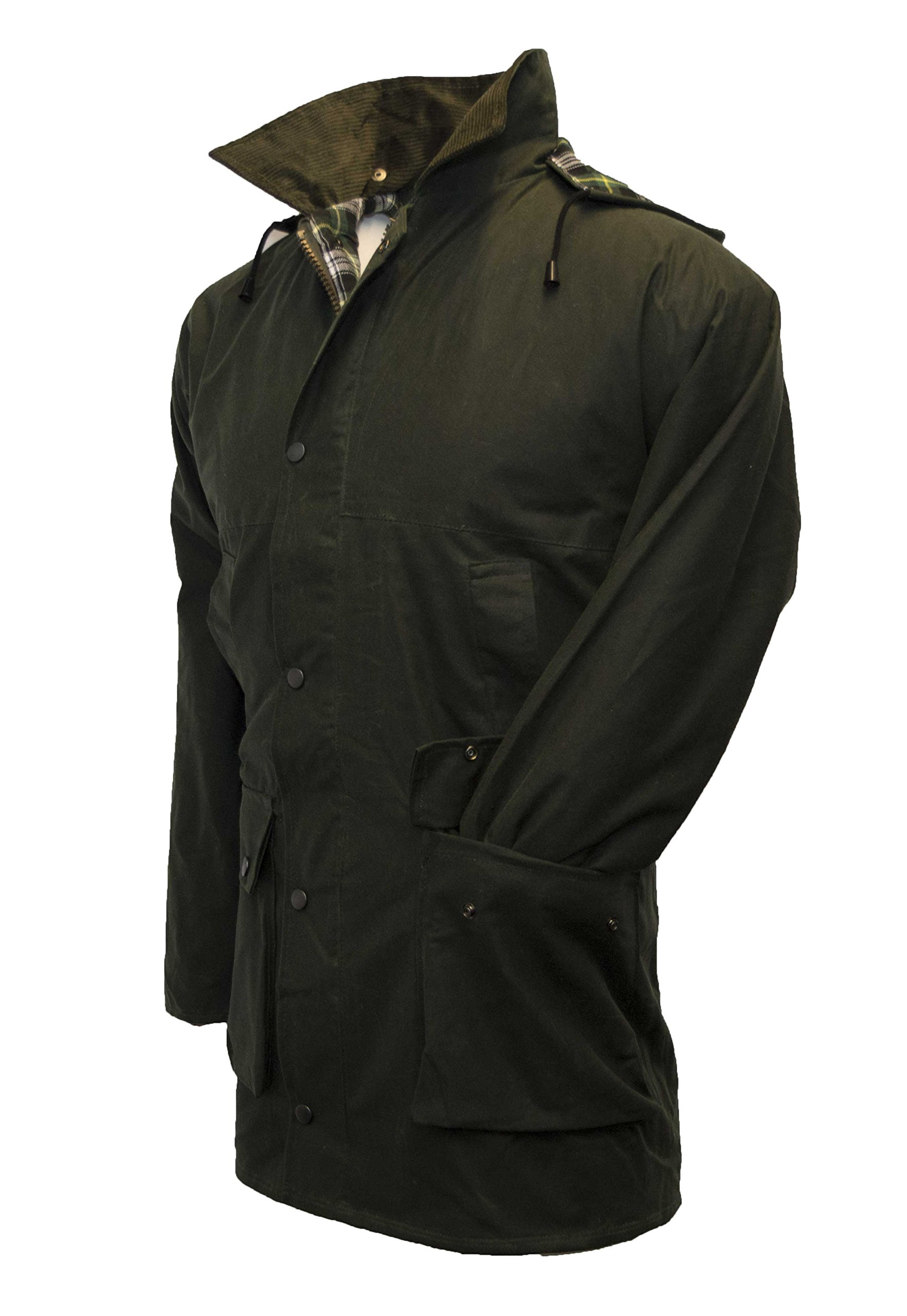 Walker & Hawkes - Mens Unpadded Wax Jacket Countrywear Hunting Waxed Coat - Olive - XXX-Large by Walker and Hawkes (Image #1)