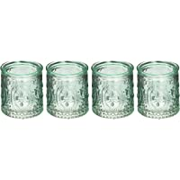 Kate Aspen Vintage Blue Glass Tealight Holder (Set of 4)