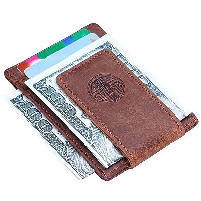 efef7d3979b859 Amazon | [Win&Income] マネークリップ レザー マネーくりっぷ 財布 マネークリップ 小銭入れ RFID ブロッキング カード入れ  | マネークリップ